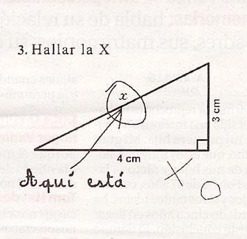 Hallar la x